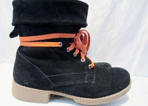 Womens SKECHERS Suede LEVERAGES REPUTATION Boots BLACK Suede 8 Booties