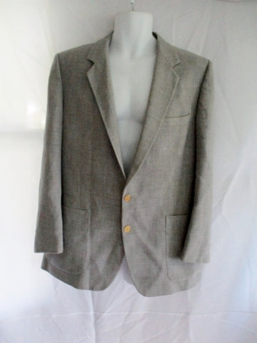 Mens Vintage GIVENCHY PARIS Blazer Sport Coat 42 GRAY 2-Button Jacket
