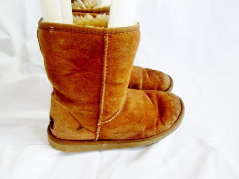 Womens UGG AUSTRALIA 5825 CLASSIC Short Suede Winter BOOTS 5 CHESTNUT BROWN