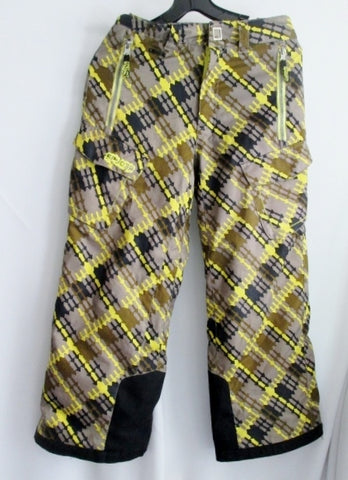 Kids Boys Girls SPYDER Winter Ski Snowboard Snow Pants 10 GRAY ARROW Yellow