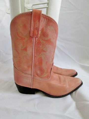 Kids Girls Youth SMOKY MOUNTAIN BOOTS Leather Western Cowboy 2 PINK