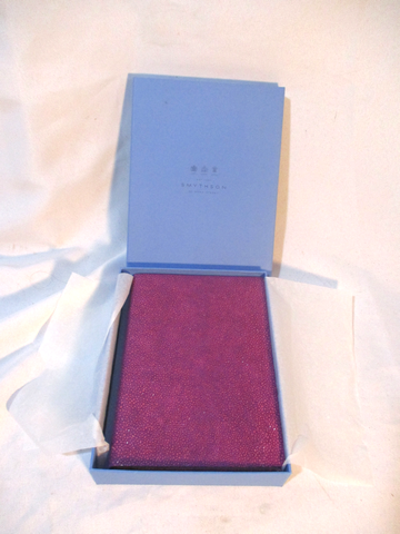 "NEW 6x8"" SMYTHSON Purple LEATHER Journal Travel Blank Book Diary NIB"