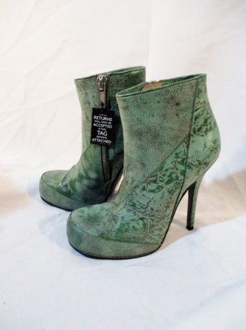 NWT NEW Womens RICK OWENS JADE SCARPE Bootie GREEN ITALY 36.5 6 Boot