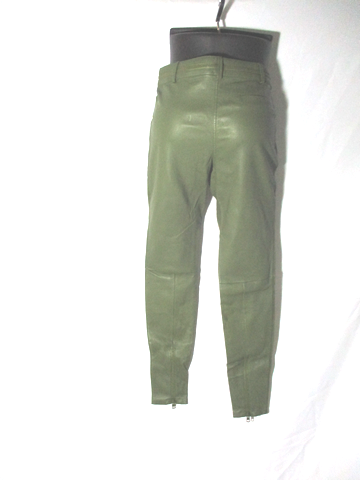 NEW NWT GIVENCHY ITALY LAMBSKIN LEATHER Trouser Pant 38 6 KHAKI GREEN
