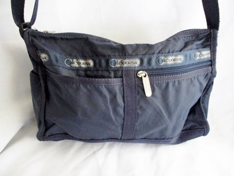 LESPORTSAC Nylon shoulder bag purse crossbody Le Sport Sac BLUE NAVY Vegan