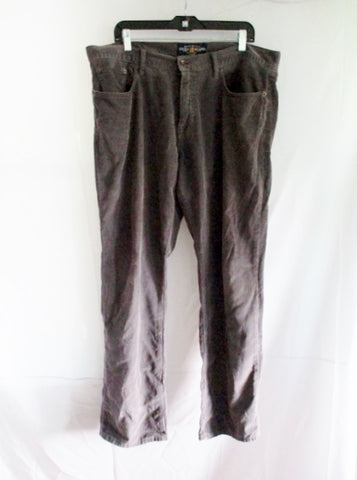 Mens LUCKY BRAND 221 Original Straight Chino Corduroy Pants 38 X 32 GRAY Charcoal
