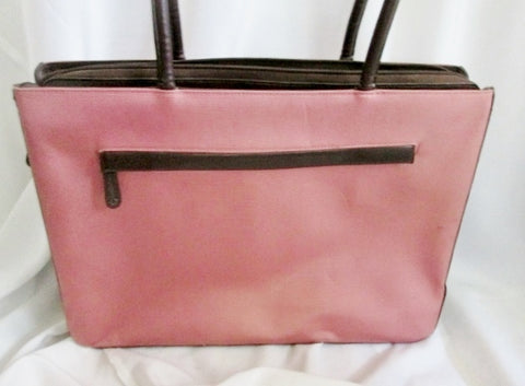 FRANKLIN COVEY 31747.575 Tote Briefcase Bag Carryall PINK BROWN Leather