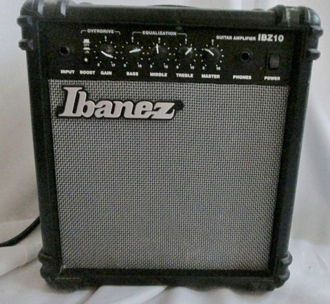 Ibanez Bass Guitar Amplifier IBZ10B BLACK Musician Band Accessory Works Great!