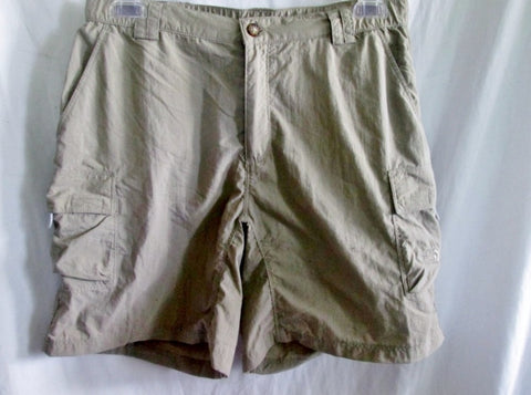 Womens THE NORTH FACE Never Stop Exploring Hiking Shorts 10 KHAKI S/P Long