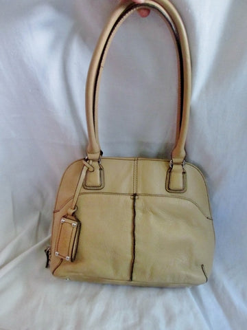 EUC TIGNANELLO leather hobo satchel tote shoulder bucket bag tote BEIGE TAN