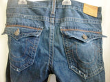 Mens TRUE RELIGION RICKY RELAXED STRAIGHT FLAGSTONE JEANS Denim PANTS BLUE 34 X 34 Dungarees