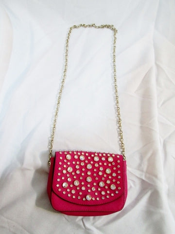 JUICY COUTURE Purse RHINESTONE Bag Swingpack Crossbody PINK Shoulder Mini