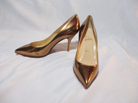 NEW CHRISTIAN LOUBOUTIN PIOU COPPER LEATHER Pump 36.5 / 6 Shoe Womens  High Heel