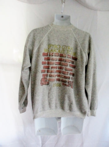 Vintage1986 SPYRO GYRA BREAKOUT Band Rocker Concert Sweatshirt L 42-44 GRAY GREY
