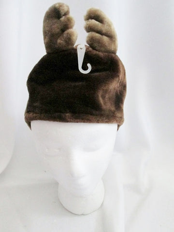 NEW BABYGAP BABY GAP Faux Fur Infant  Hat Cap Trooper Flap REINDEER 12-24 Months L XL