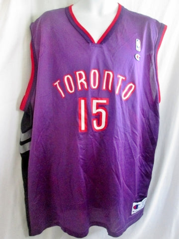 Mens NBA TORONTO RAPTORS CARTER #15 BASKETBALL Sports Jersey PURPLE XXL Sleeveless