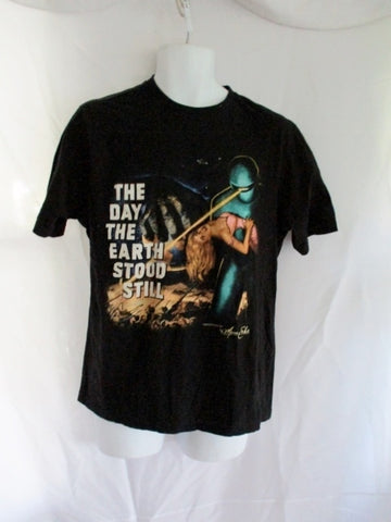 MENS DAY THE EARTH STOOD STILL Movie Cult Black Tee T-Shirt L Vintage Cinema
