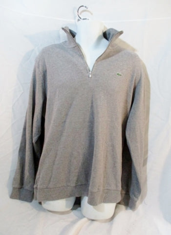 MENS LACOSTE France Preppy POLO SWEATSHIRT 8 XXL Gray Alligator