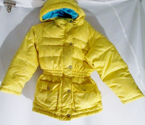 Youth Kids Girls HANNA OUTDOOR Ski Snow Puffer JACKET Coat Hood 8-10 YELLOW