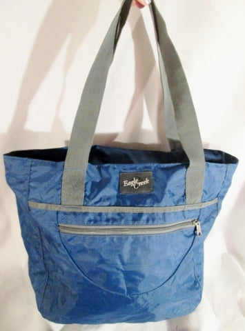 EAGLE CREEK Nylon Tote Carryall Satchel Purse BLUE Market Book Beach Bag Shopper
