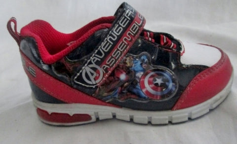 Toddler Kids MARVEL AVENGERS LIGHT UP Sneakers Sports Shoes 9 BLACK Athletic