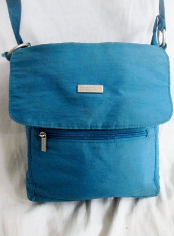 BAGGALLINI Nylon shoulder travel bag man purse crossbody BLUE AQUA organizer