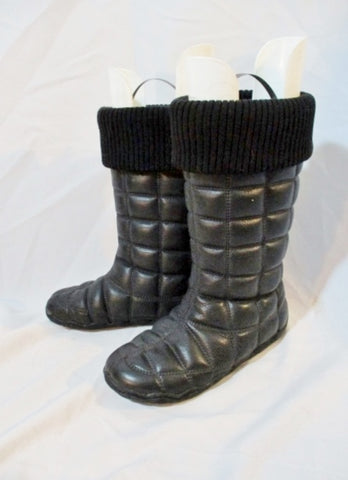 Womens PATAGONIA GINGKO POLARTEC Leather Winter Boot BLACK 6 Boot Quilted