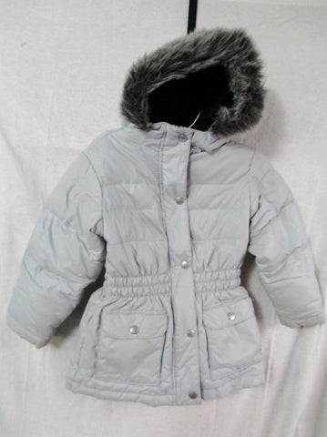 Youth Kids Girls HANNA ANDERSSON OUTDOOR Ski Snow JACKET Coat GRAY 5-6 Hood Puffer