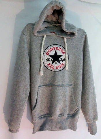 Adult CONVERSE ALL STAR Chuck Taylor HOODIE Sweatshirt JACKET S GRAY Unisex