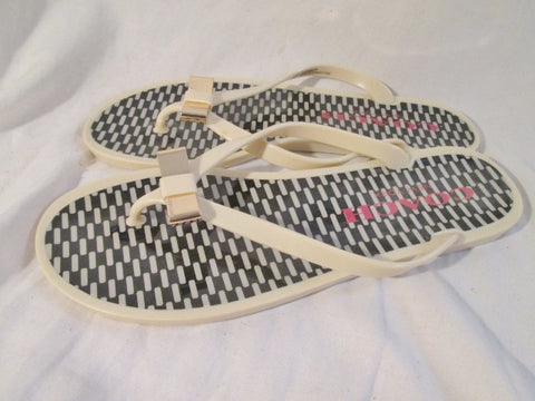 NEW Womens COACH LANDON FLIP FLOP Shoes Slip On Sandals Thong 8 Shower Water Vegan