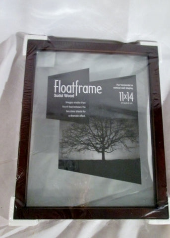 "NEW 11 x 14"" FLOATFRAME WOOD Frame PHOTO HOLDER Wall Display"