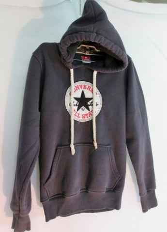 Adult CONVERSE ALL STAR Chuck Taylor HOODIE Sweatshirt JACKET S NAVY BLUE Unisex
