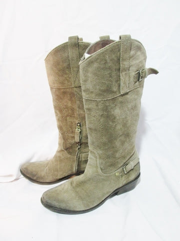 Womens FRANCO SARTO WYOMING Western Cowboy Leather Rider BOOT 6.5 GREEN ROCKER