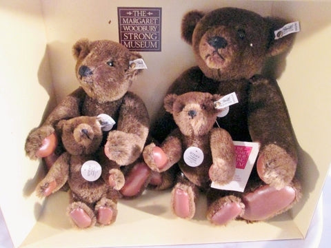 STEIFF Margaret Strong Chocolate Brown Teddybear Teddy Bear Set 1983 GERMANY