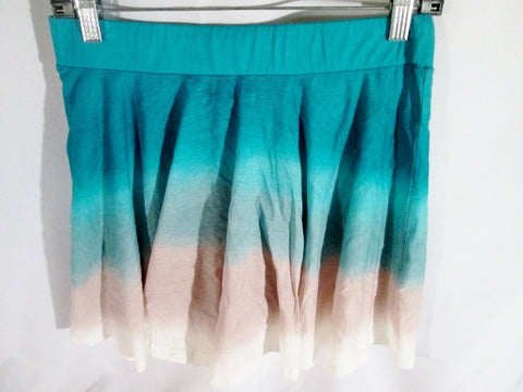 NEW NWT WOMENS FRENCH CONNECTION Micro Mini Skirt 8 EMERALD BLUE GRAY