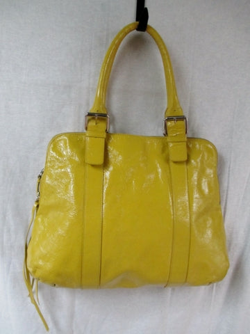 LATICO NJ Leather Tote Carryall Satchel Purse Handbag YELLOW DAISY L BUTTERCUP