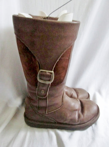 Womens UGG AUSTRALIA 5129 CARGO III Ladies Leather Boot Snow 8 BROWN CHOCOLATE