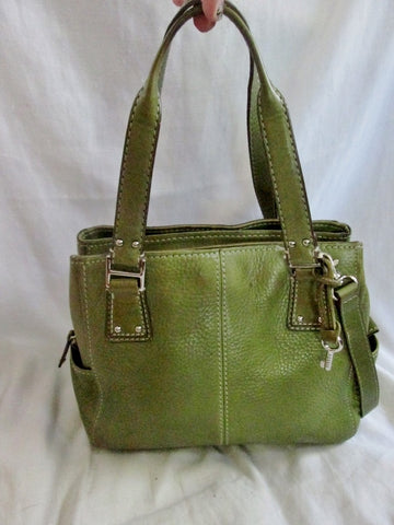 FOSSIL TOTE 75082 tote shoulder leather handbag hobo bag purse GREEN AVOCADO