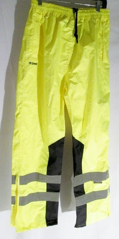 NEW Mens Hi Viz Game Jogging Trouser Bottom Sweat Pants Workout Fitness Pant L YELLOW