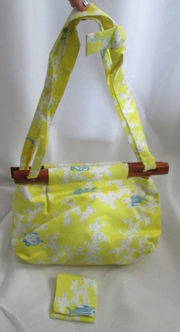 NEW COCO SHOP ANTIGUA WEST INDIAN SEA ISLAND COTTON Bag Fish MERMAID YELLOW