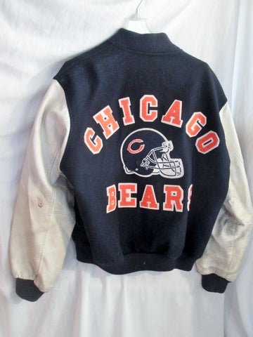 Vtg Mens CHICAGO BEARS FOOTBALL VARSITY LETTERMAN JACKET Coat BLUE XL WOW!