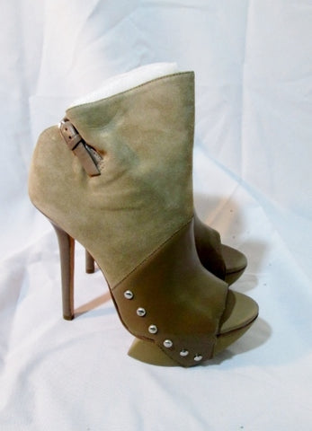 NEW CAMILLA SKOVGAARD TREKKING POINT STILETTO Shoe Suede Nappa 36.5 6 Tan