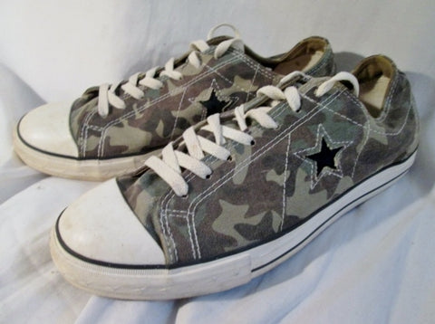 CONVERSE ONE STAR CHUCK TAYLOR LOWRISE Sneaker Trainer CAMO M11 W13 GREEN Shoe