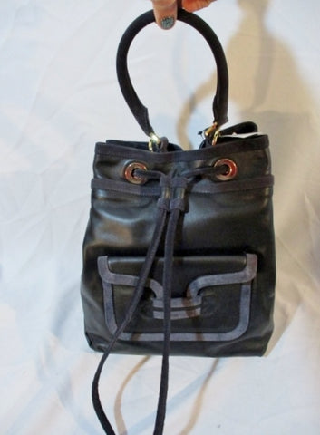 NWT NEW PIERRE HARDY THREE-WAY DRAWSTRING Bag Purse BLACK Leather