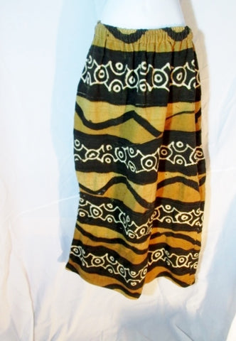 WOMENS Ethnic African Maxi Tribal Skirt BROWN BLACK OS One Size