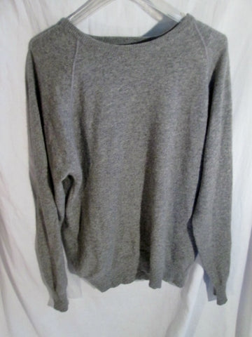 Mens SCOTTY MCGREGORS 100% Cashmere Crewneck Pullover Sweater GRAY 1 M
