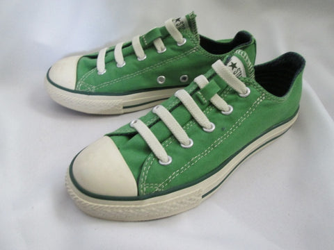 EUC CONVERSE ALL STAR LOWRISE Sneaker Trainer GREEN 2 CHUCKS Kids Athletic Sports Shoe