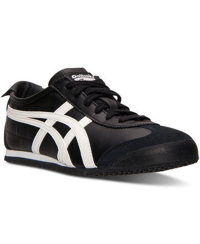 Mens ASICS ONITSUKA TIGER STRIPES LEATHER Sneaker Trainer Athletic Shoe BLACK 12