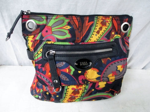 TYLER RODAN Vegan BAG Organizer Clutch Handbag Travel Purse BLACK Boho M