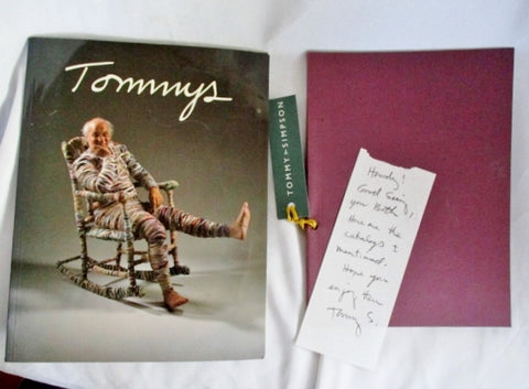 SIGNED AUTOGRAPH TOMMY SIMPSON Letter + Set ART BOOK Color Catalogue